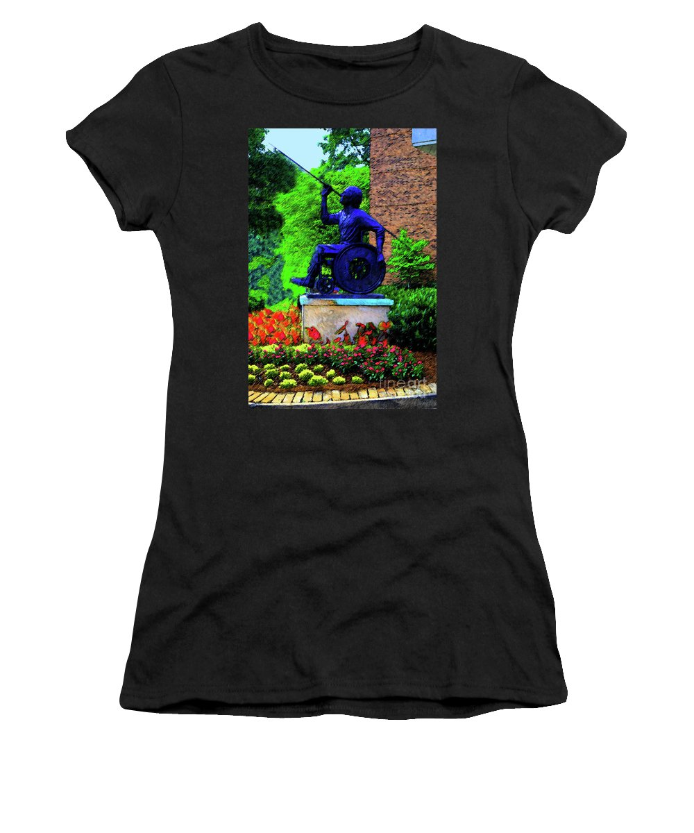 Wheelchair Women's T-Shirt featuring the photograph Javelin Of Flight by Jost Houk