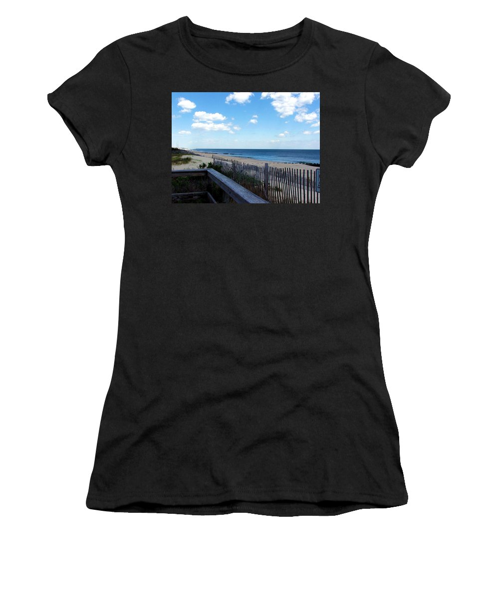 Jersey Shore Women's T-Shirt (Athletic Fit) featuring the photograph Jersey Shore by Judi Saunders