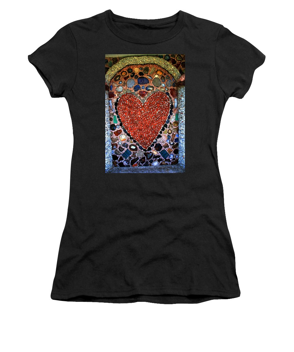 Jewel Heart Women's T-Shirt (Athletic Fit) featuring the photograph Jewel Heart by Susanne Van Hulst