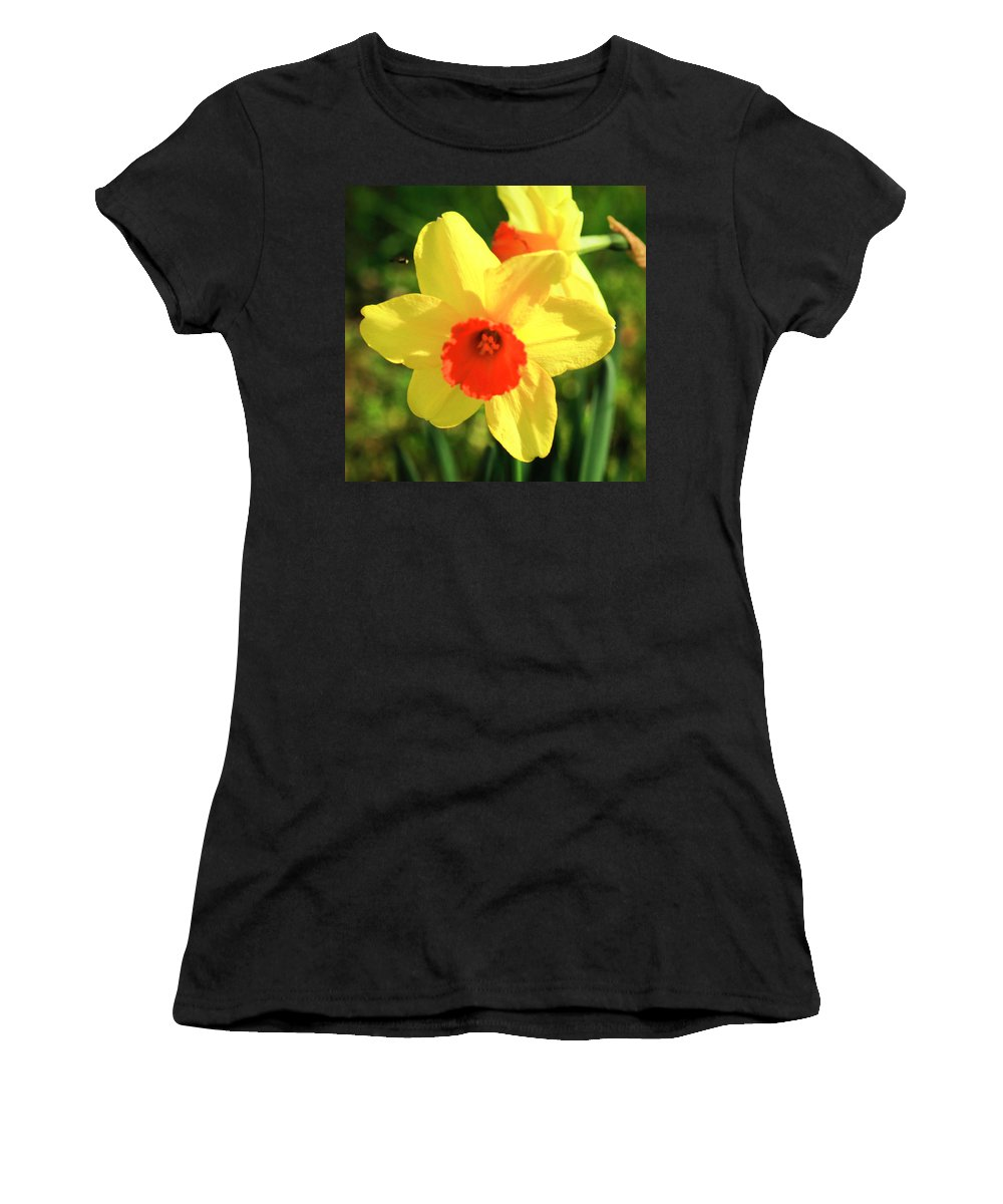 Narcissus Jonquilla Women's T-Shirt (Athletic Fit) featuring the photograph Jonquils by Janine Moore