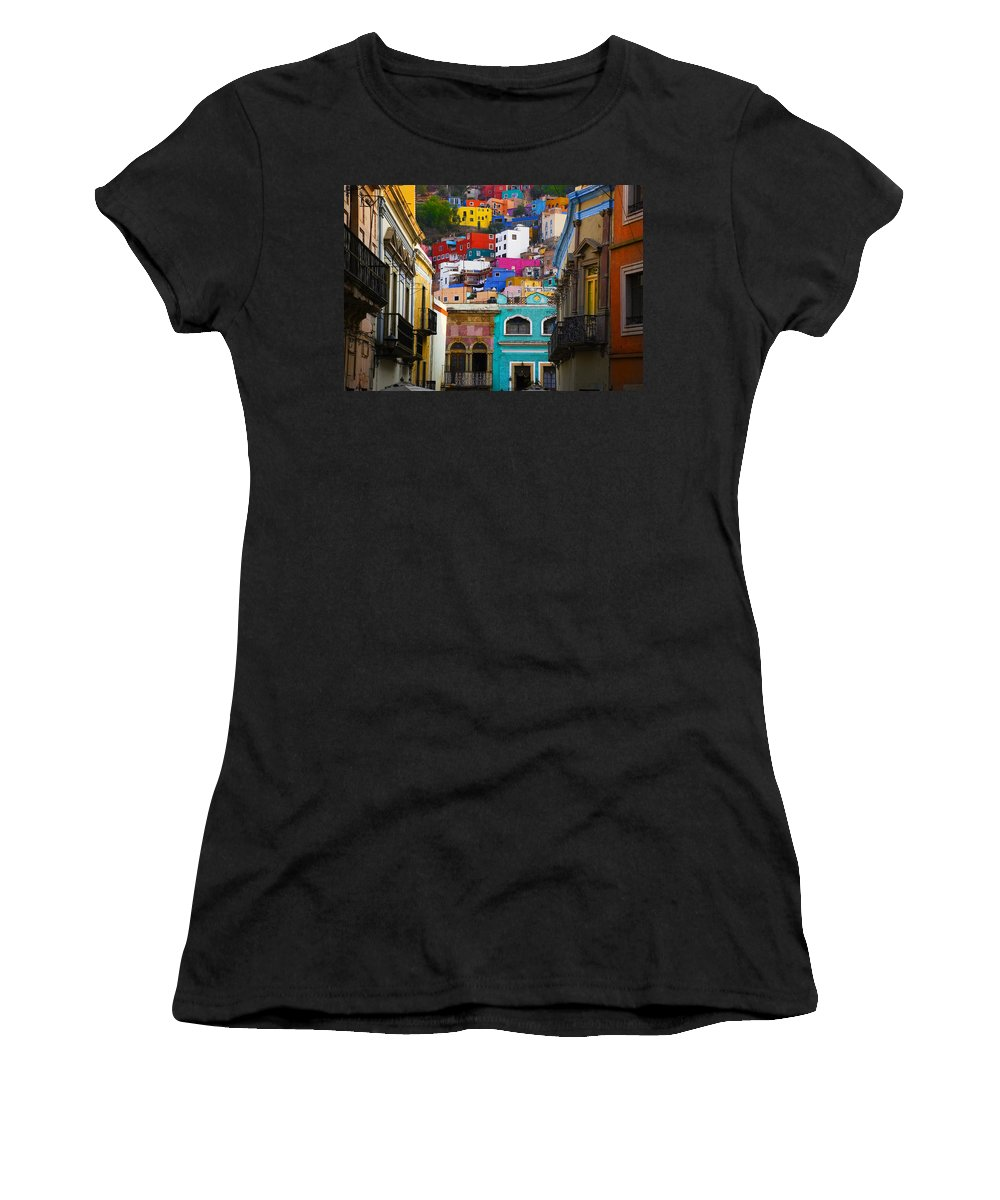 Architecture Women's T-Shirt (Athletic Fit) featuring the photograph Juegos In Guanajuato by Skip Hunt
