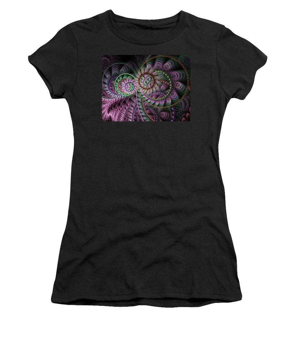 Fractal Women's T-Shirt featuring the digital art Julian Circus Rings by Amorina Ashton
