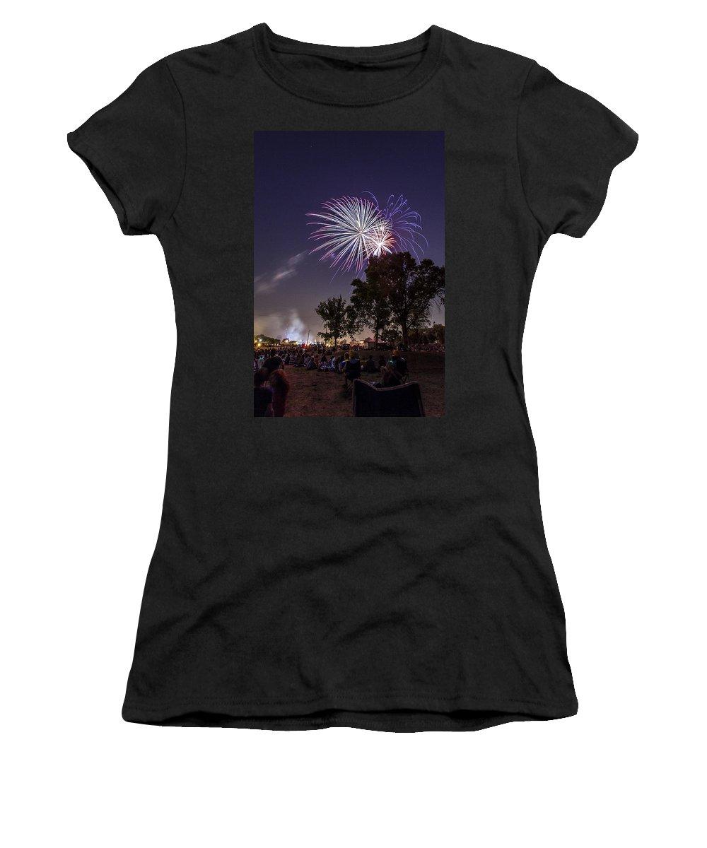 Cj Schmit Women's T-Shirt featuring the photograph July 4th 2012 by CJ Schmit