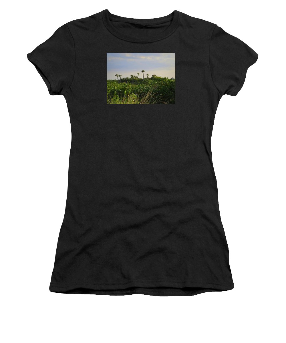 Woods Women's T-Shirt (Athletic Fit) featuring the photograph Jungle Oasis by WanderBird Photographi