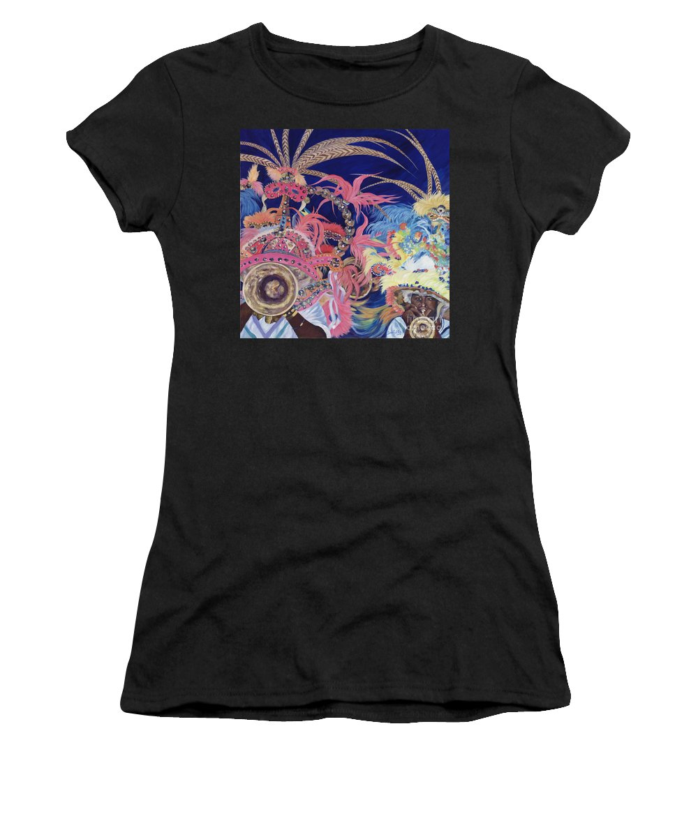 Bahamas Women's T-Shirt (Athletic Fit) featuring the painting Junkanoo by Danielle Perry
