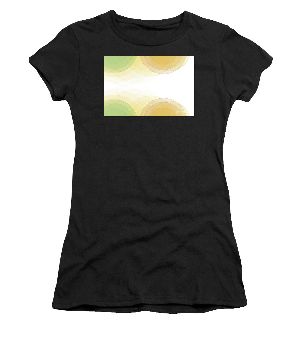 Abstract Women's T-Shirt (Athletic Fit) featuring the digital art Jura Semi Circle Background Horizontal by Frank Ramspott