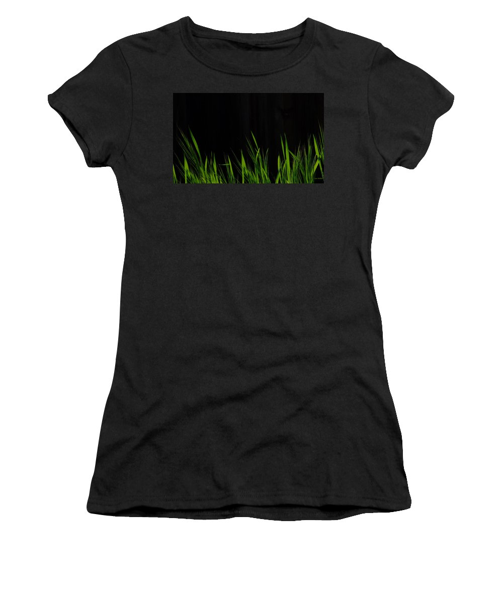Grass Women's T-Shirt (Athletic Fit) featuring the photograph Just A Little Grass by Donna Blackhall