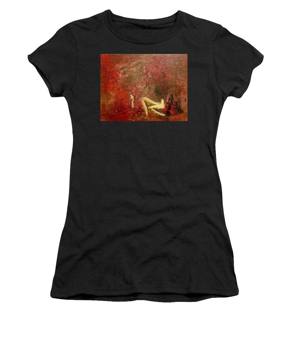 Street Art Women's T-Shirt featuring the painting Just Another Lesson Learned by Bobby Zeik