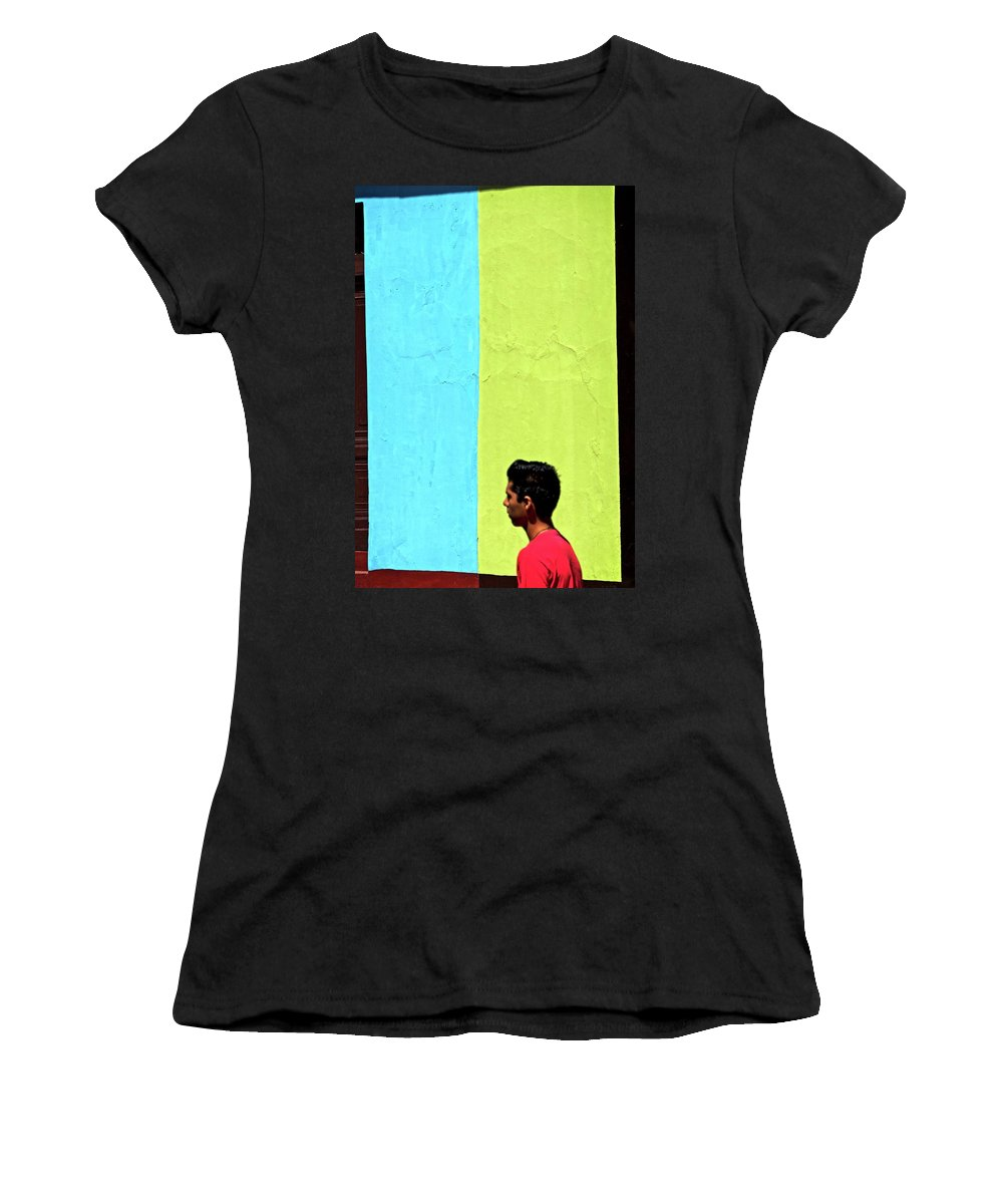 Latin America Women's T-Shirt (Athletic Fit) featuring the photograph Juxtaposition by Camera Or Bust