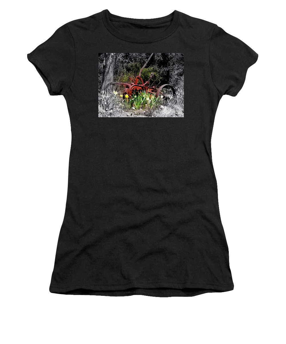 Tractor Women's T-Shirt featuring the photograph Juxtaposition by Priscilla Richardson