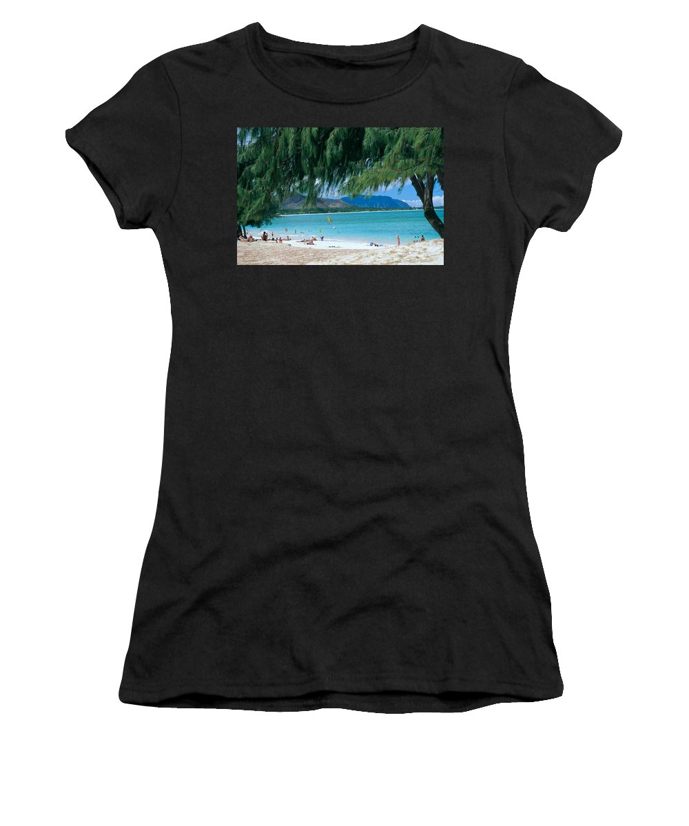 Active Women's T-Shirt featuring the photograph Kailua Beach Park by Peter French - Printscapes