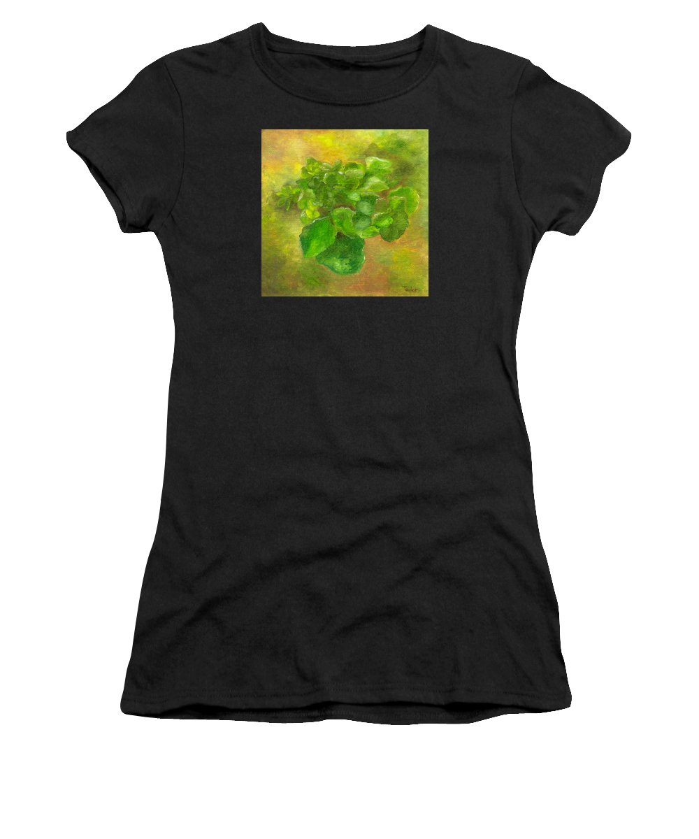 Flowers Women's T-Shirt featuring the painting Kalanchoe by FT McKinstry