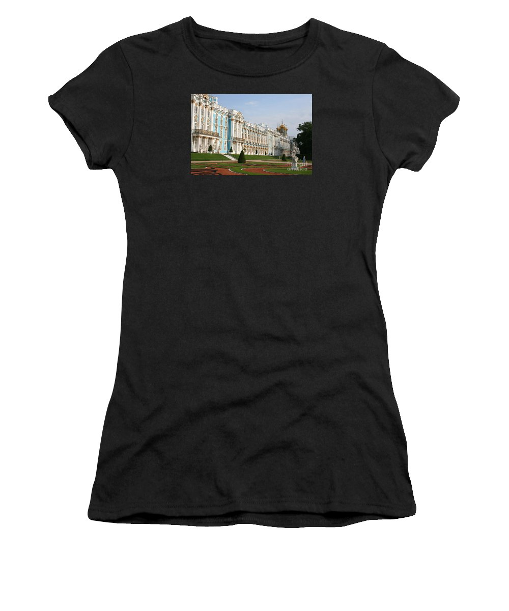 Palace Women's T-Shirt (Athletic Fit) featuring the photograph Katharinen Palace - Russia by Christiane Schulze Art And Photography