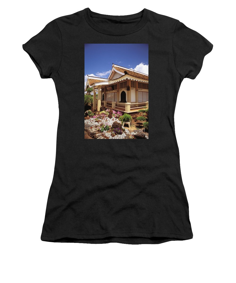 Architecture Women's T-Shirt featuring the photograph Kauai, Hanapepe by Peter French - Printscapes