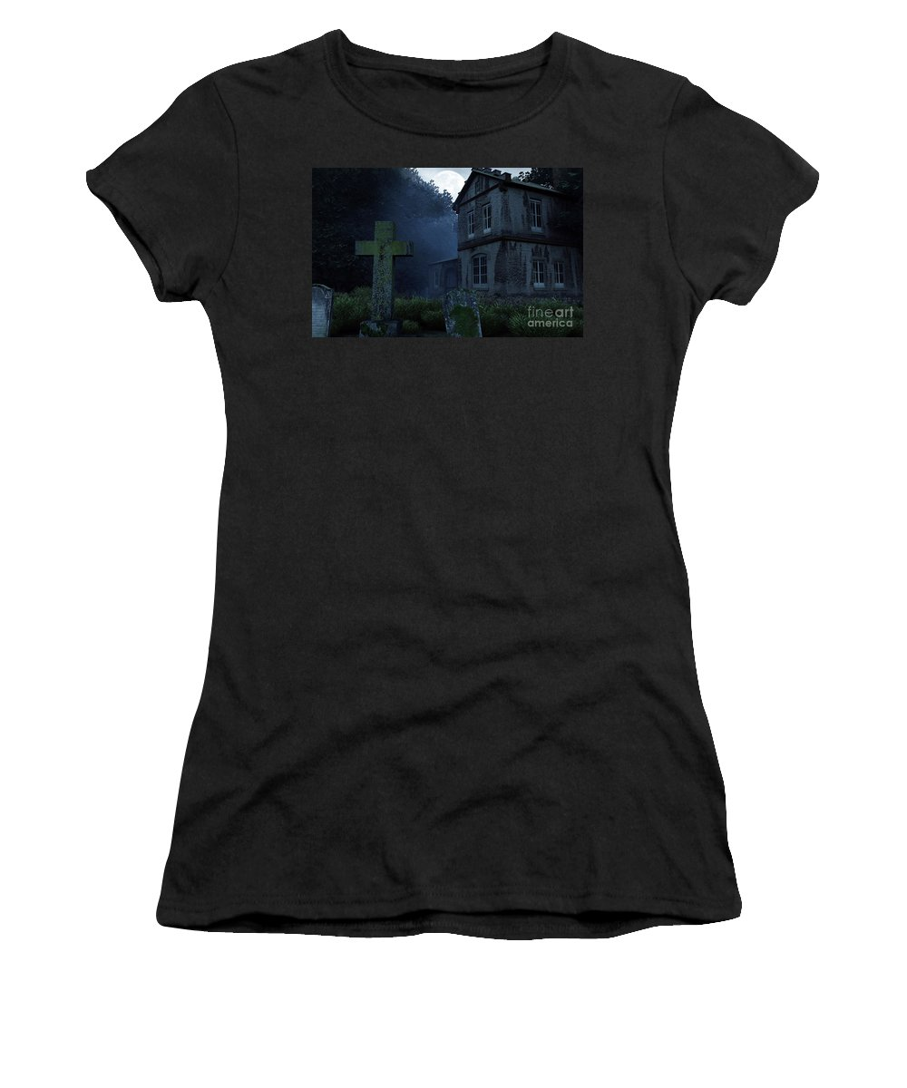 Dark Women's T-Shirt featuring the digital art Keepers Of The Manor by Richard Rizzo