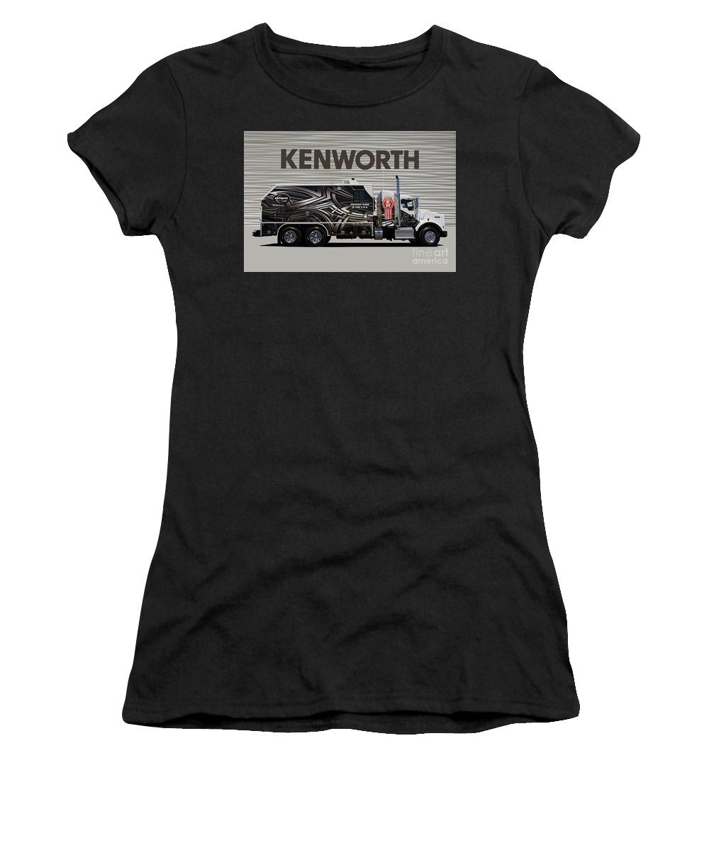 Kenworth Women's T-Shirt (Athletic Fit) featuring the photograph Kenworth Proudly Made In The Usa by Nick Gray