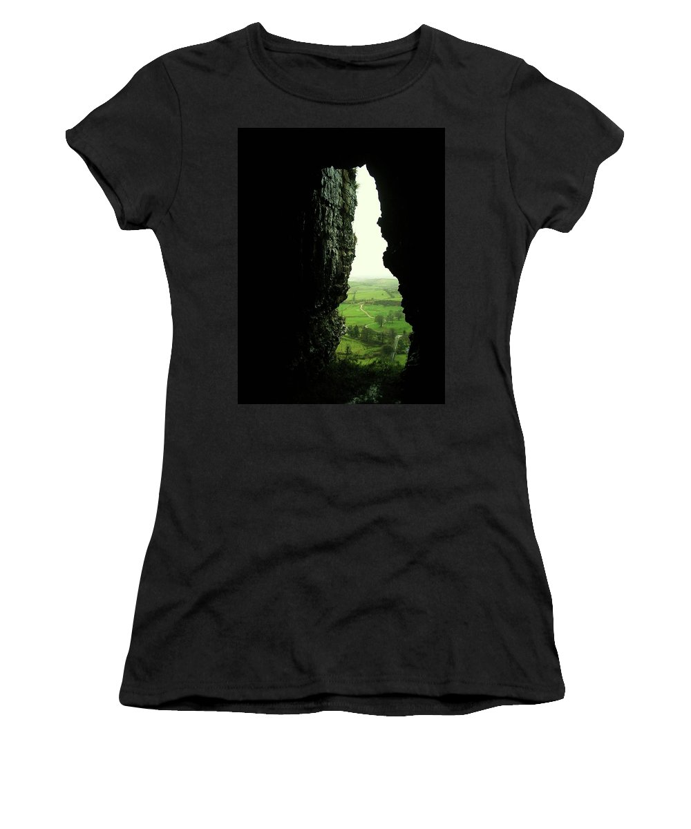 Landscape Women's T-Shirt featuring the photograph Kesh Caves Co Sligo Ireland by Louise Macarthur Art and Photography