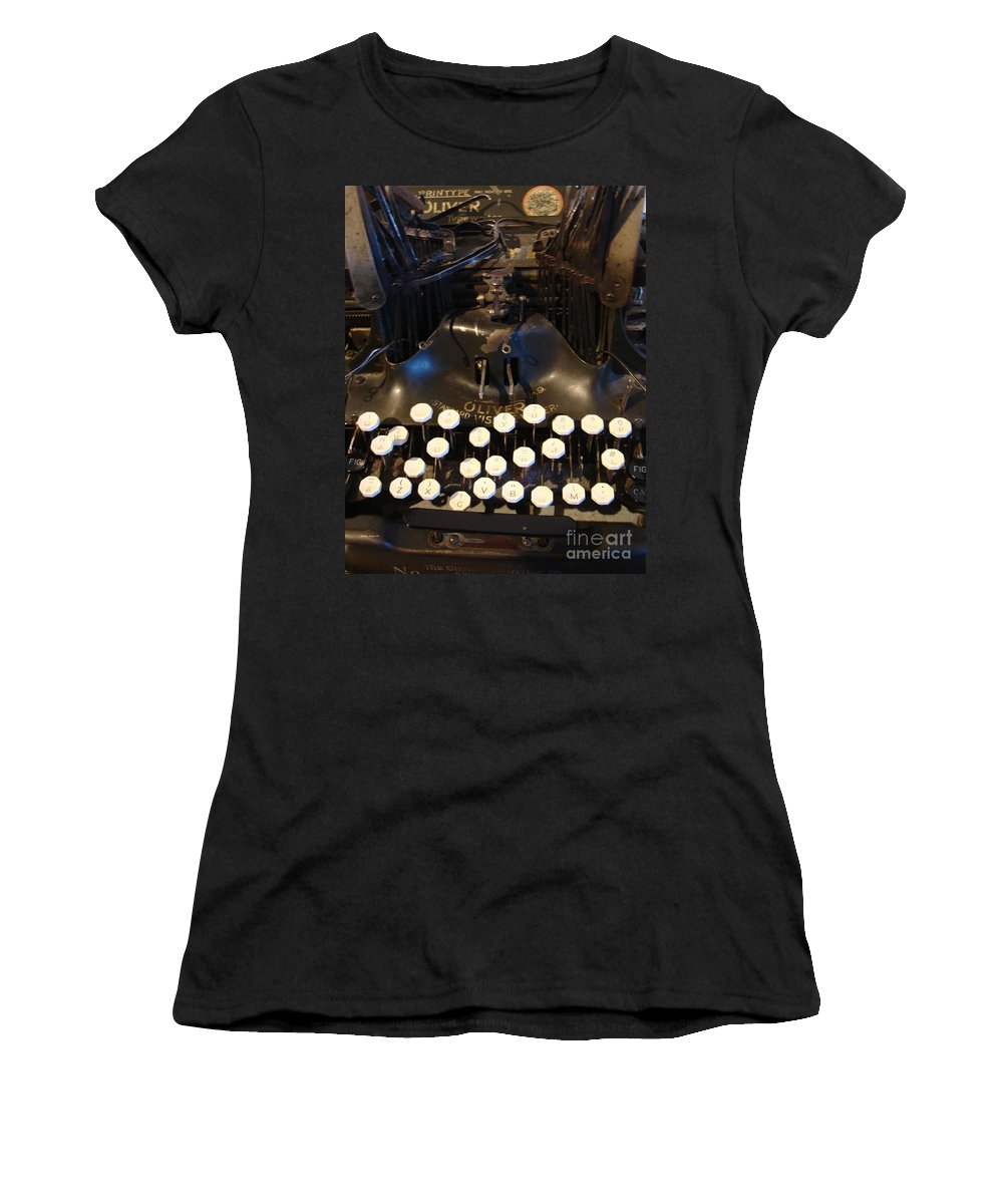 Typewriter Women's T-Shirt featuring the photograph Keys Of Time by Shelley Jones