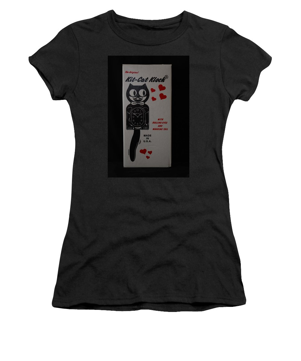 Face Women's T-Shirt (Athletic Fit) featuring the photograph Kit Cat Klock by Rob Hans