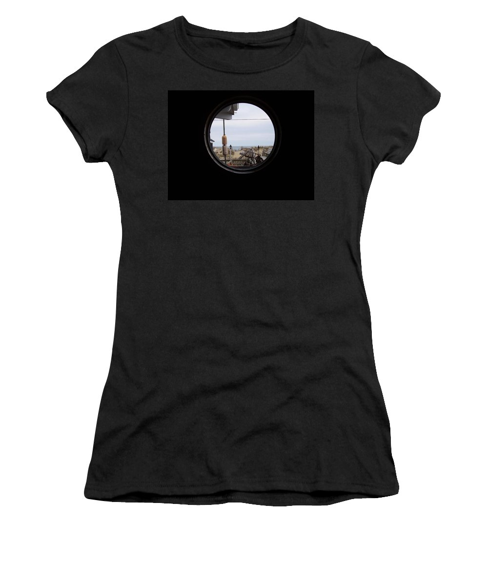Kitty Hawk Women's T-Shirt (Athletic Fit) featuring the photograph Kitty Hawk by Flavia Westerwelle
