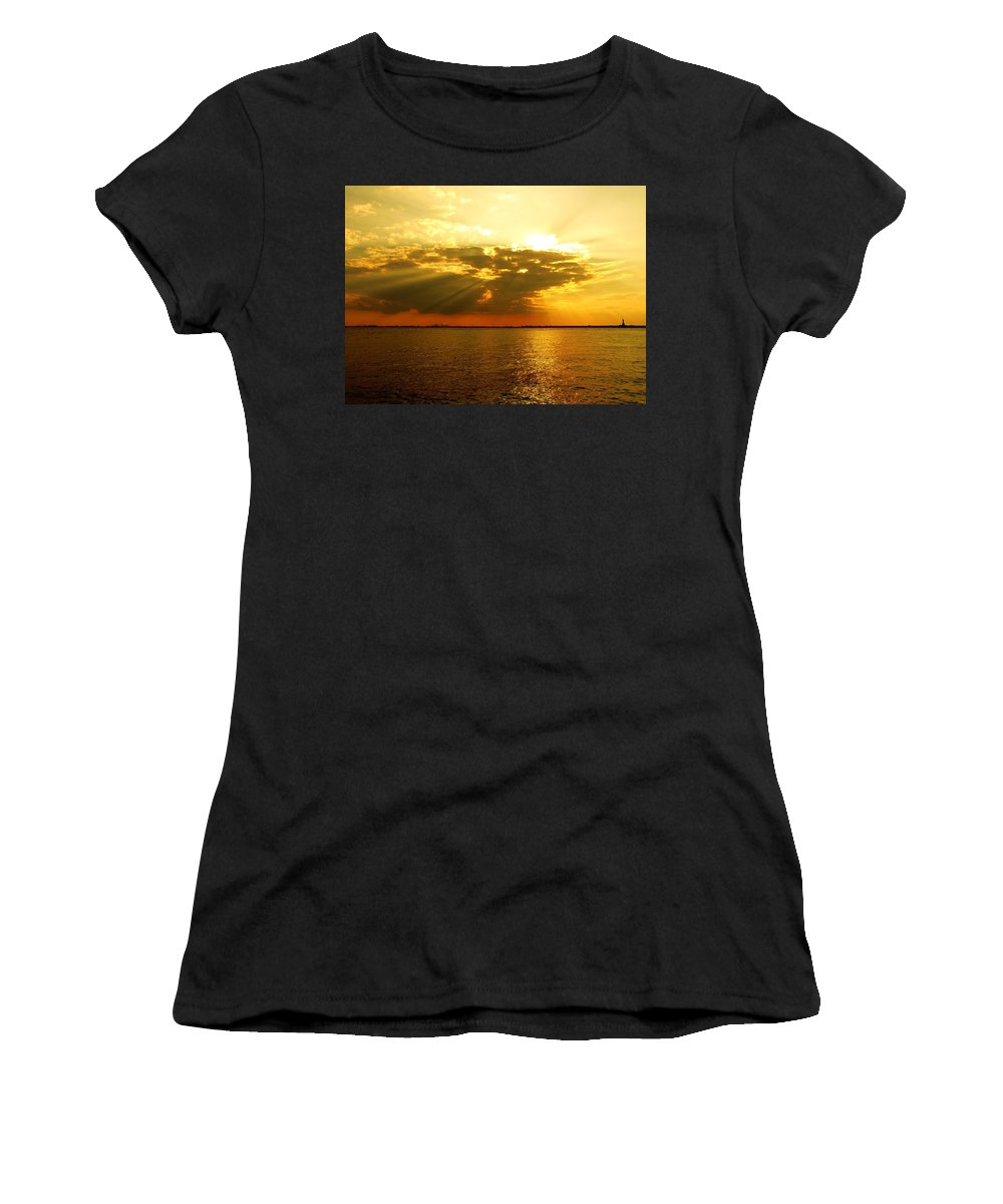 Gold Women's T-Shirt (Athletic Fit) featuring the photograph Knocking On Heaven's Door by Kendall Eutemey