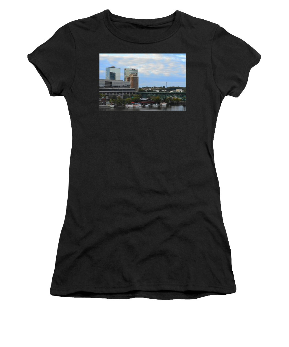 Landscape Women's T-Shirt (Athletic Fit) featuring the photograph Knoxville by Alyssa Faulkner