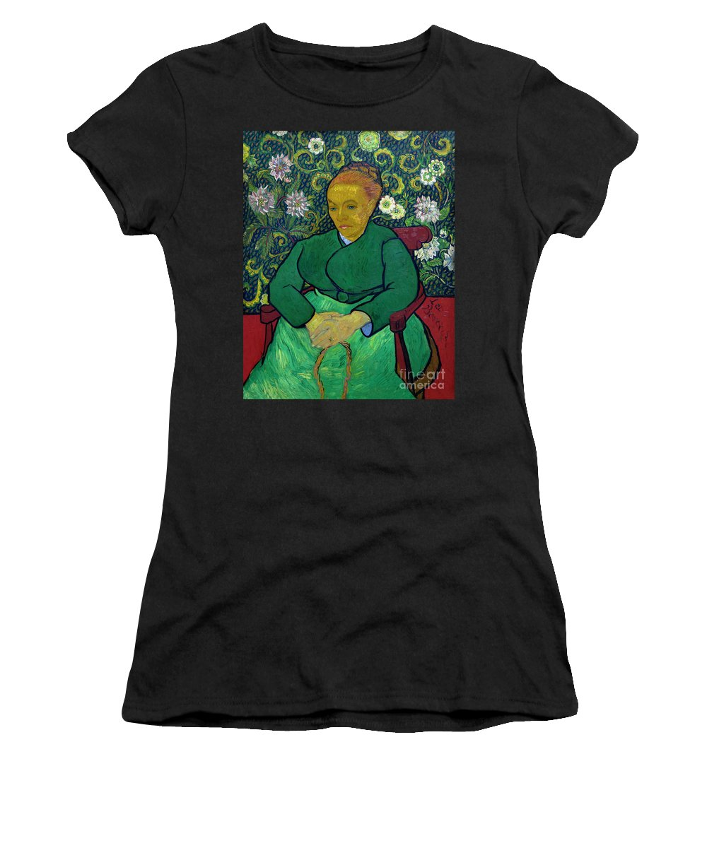 1888-1889 Women's T-Shirt (Athletic Fit) featuring the photograph La Berceuse, Portrait Of Madame Roulin, 1888-1889, Kroller-mulle by Peter Barritt