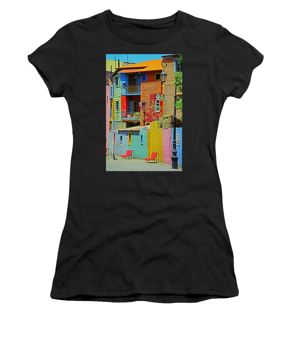 South America Women's T-Shirt featuring the photograph La Boca - Buenos Aires by Juergen Weiss