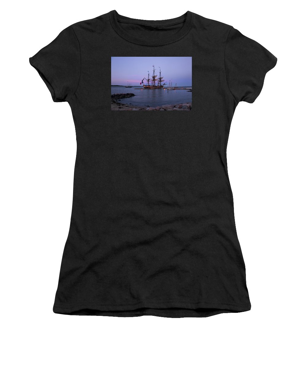 Ship Women's T-Shirt (Athletic Fit) featuring the photograph Lafayette's Hermione by Amy Jackson