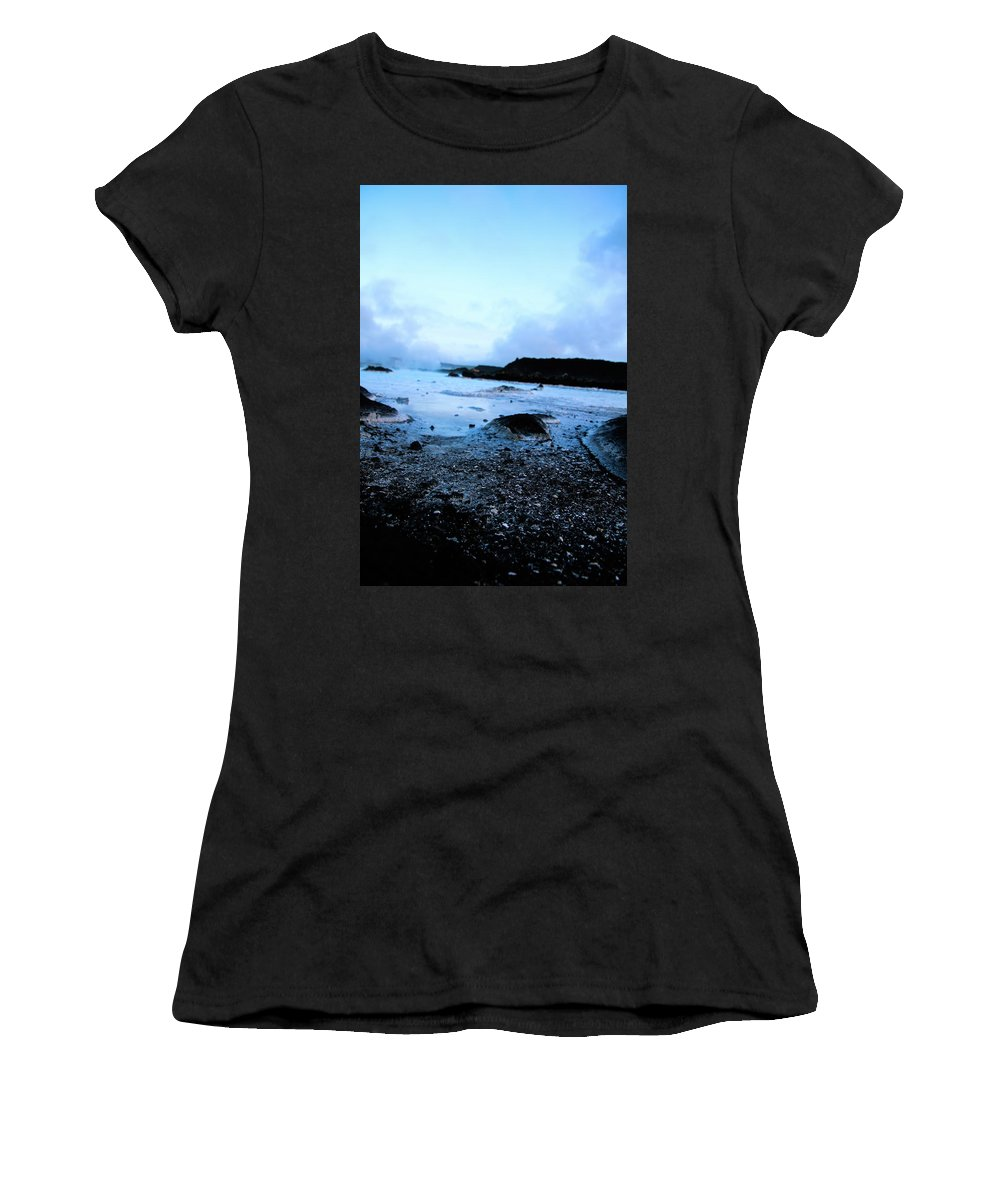 Blue Women's T-Shirt (Athletic Fit) featuring the photograph Lagoon Waters by Perggals - Stacey Turner