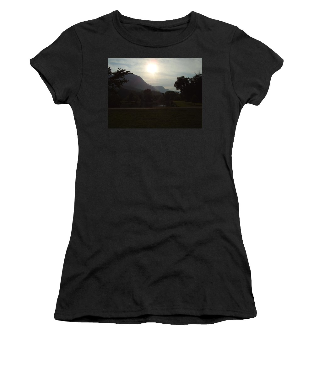 Lake Lure Women's T-Shirt (Athletic Fit) featuring the photograph Lake Lure by Flavia Westerwelle