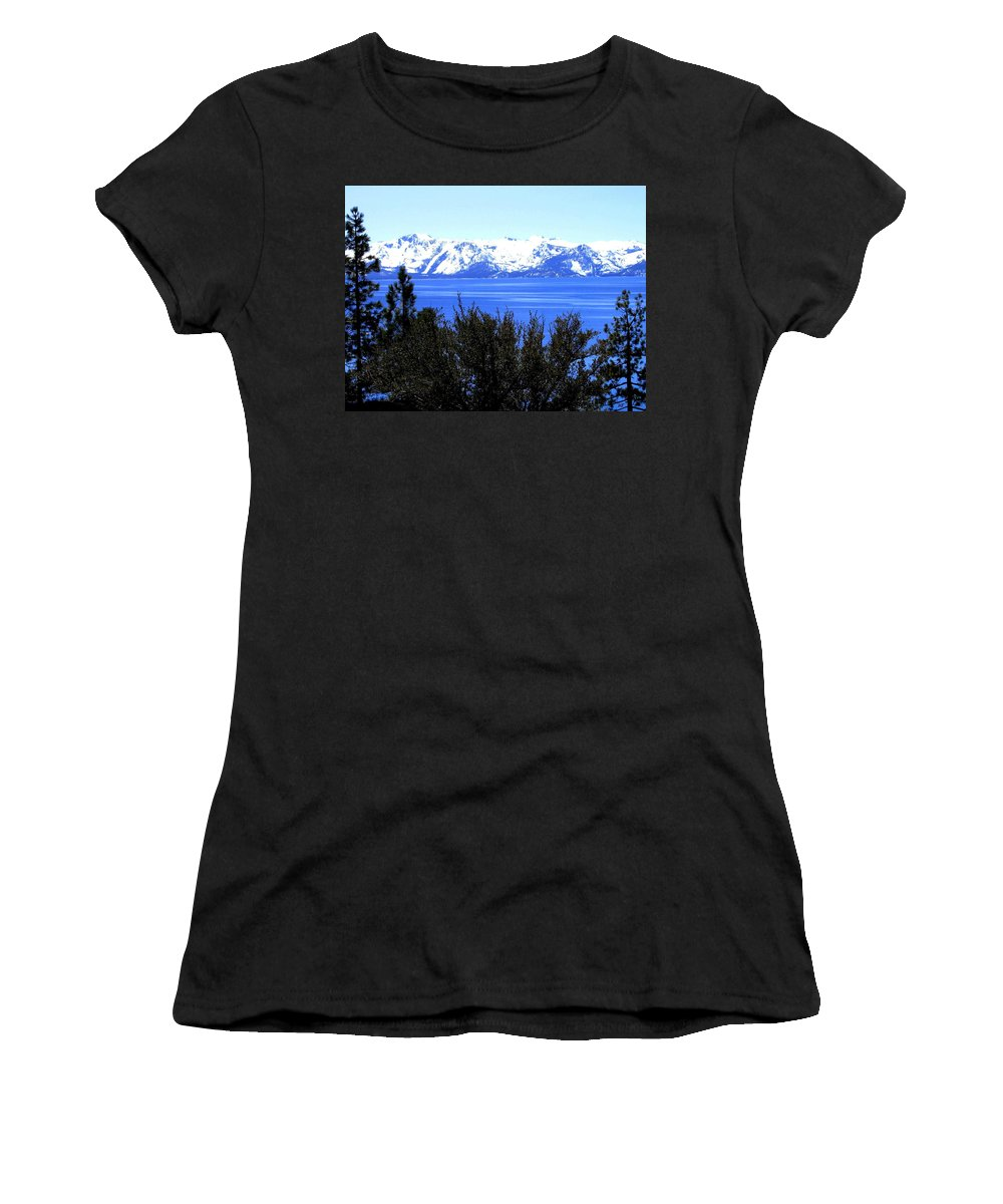 Lake Tahoe Women's T-Shirt featuring the photograph Lake Tahoe by Will Borden