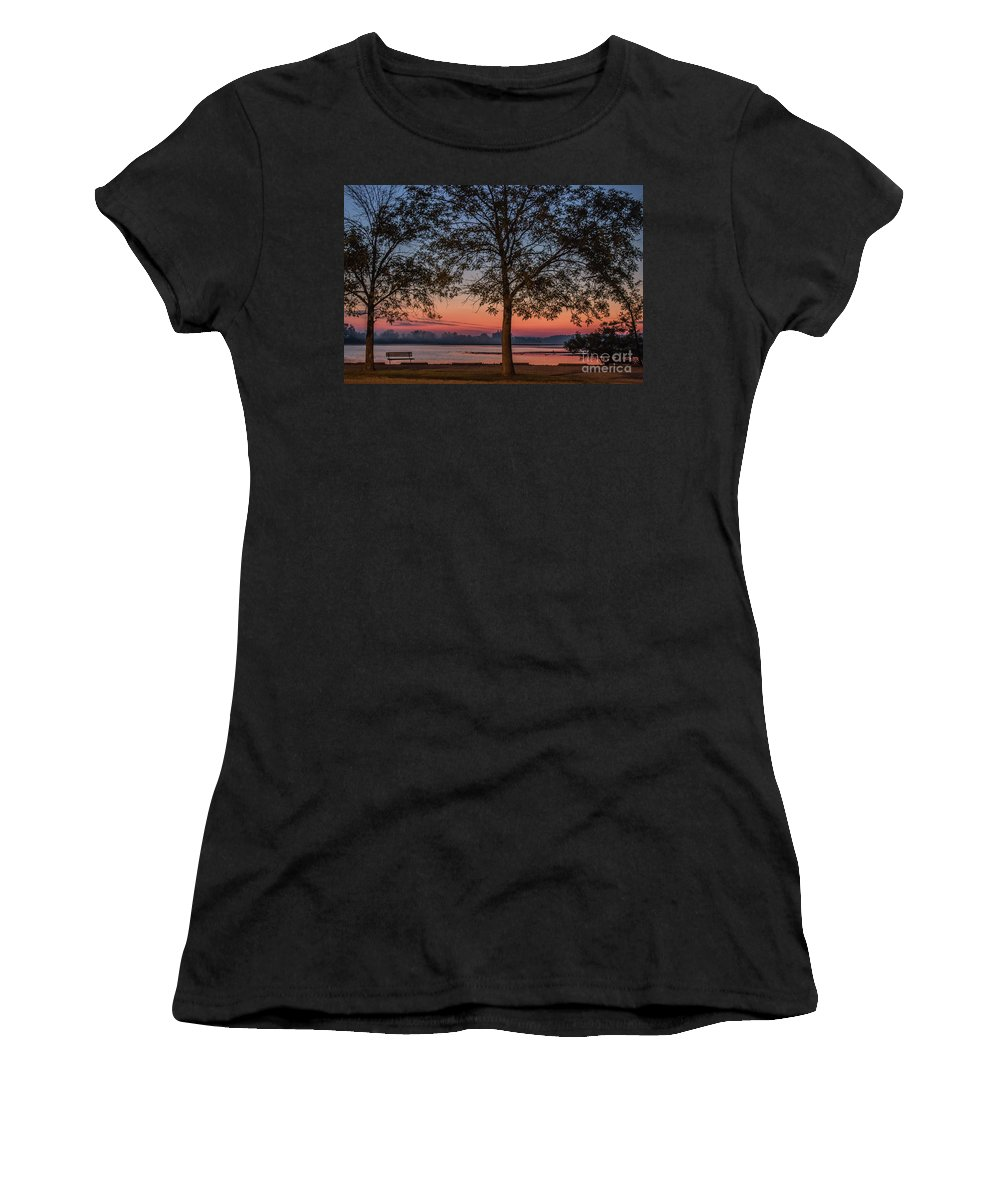 Lake Women's T-Shirt featuring the photograph Lakeside Sunrise by Doug Daniels