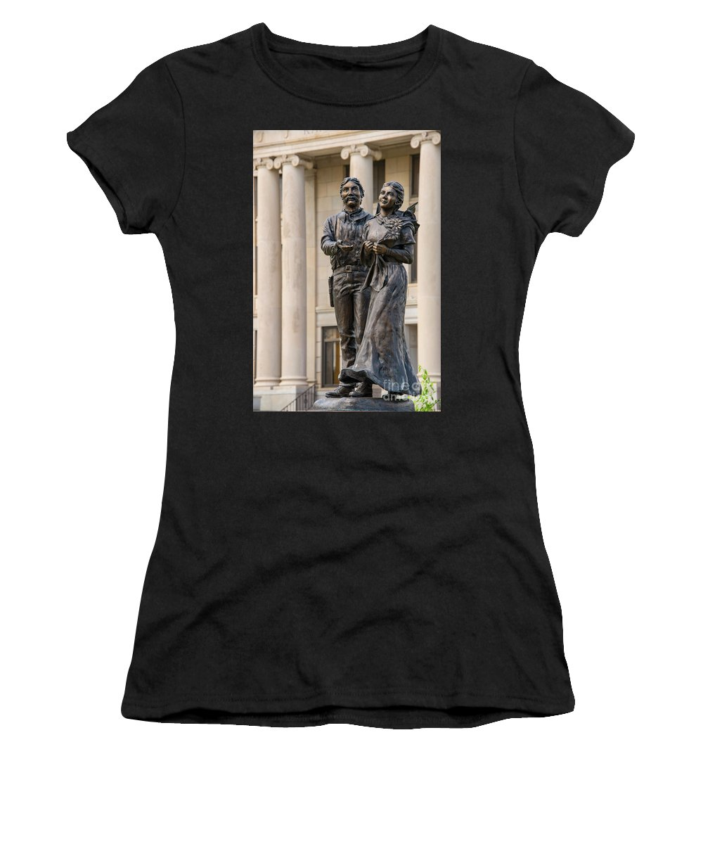 Newkirk Women's T-Shirt featuring the photograph Land Of Hope by Bob Phillips