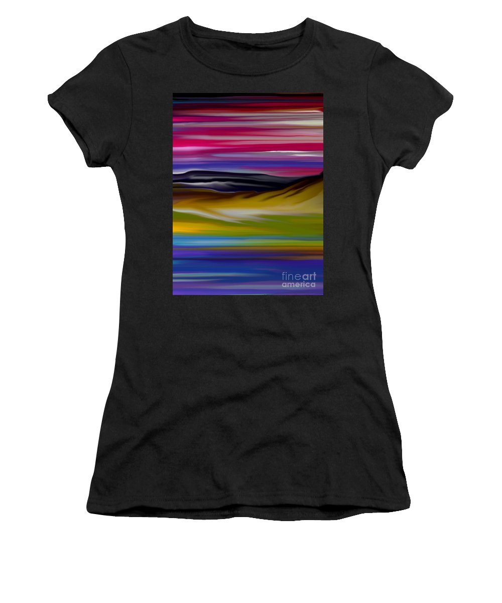 Digital Fantasy Painting Women's T-Shirt featuring the digital art Landscape 7-11-09 by David Lane