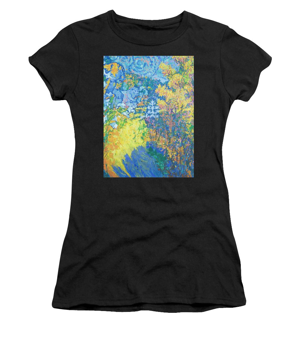 Palace Women's T-Shirt (Athletic Fit) featuring the painting Alupka Palace by Robert Nizamov