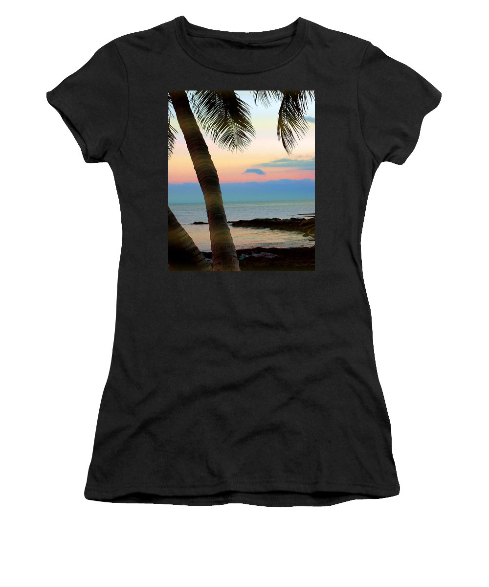 Photography Women's T-Shirt (Athletic Fit) featuring the photograph Last Evening Lights by Susanne Van Hulst