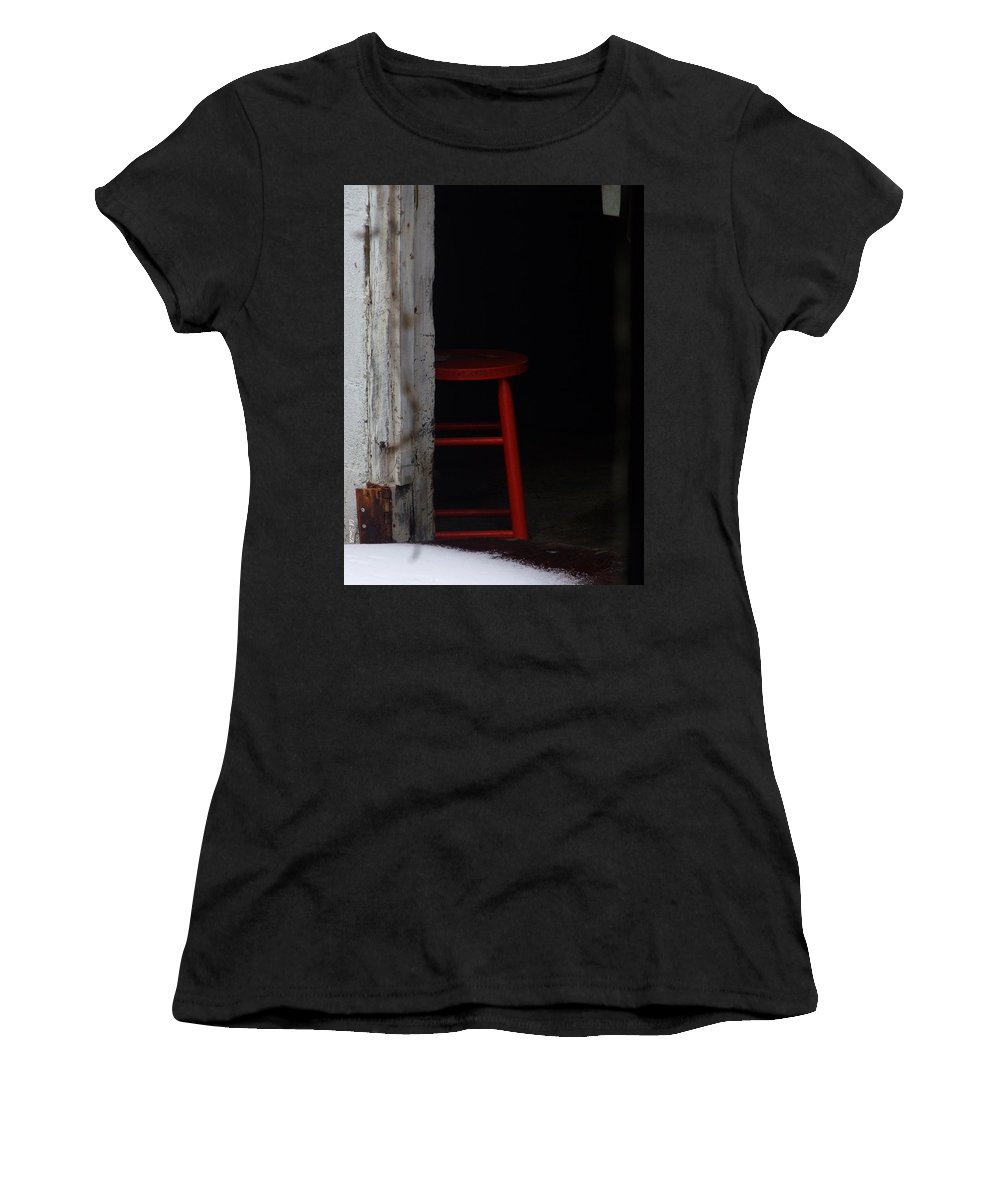 Last Man Standing. Stool Women's T-Shirt (Athletic Fit) featuring the photograph Last Man Standing by Ed Smith