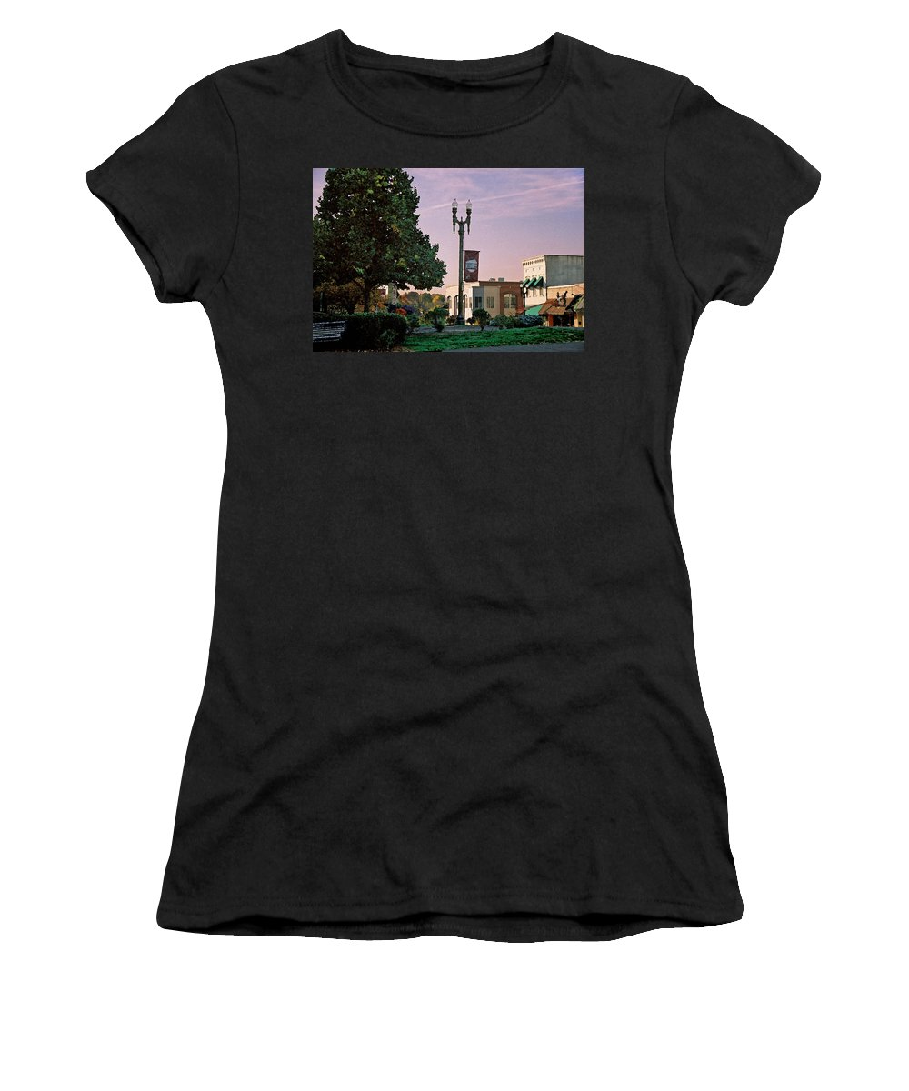 Landscape Women's T-Shirt (Athletic Fit) featuring the photograph Late Sunday Afternoon by Steve Karol