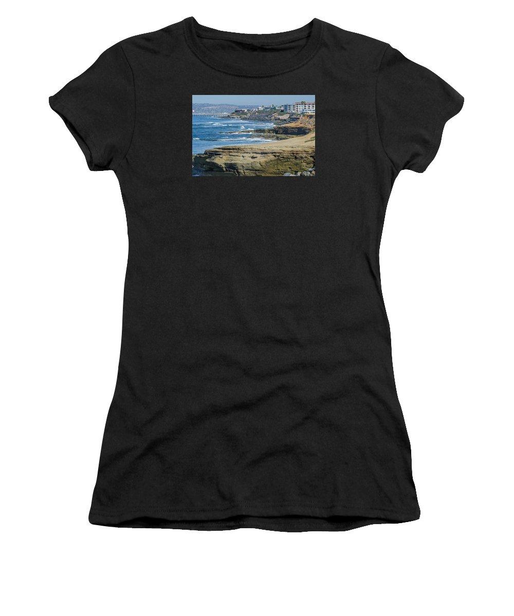 La Jolla Women's T-Shirt featuring the photograph Late Winter In La Jolla by Susan McMenamin