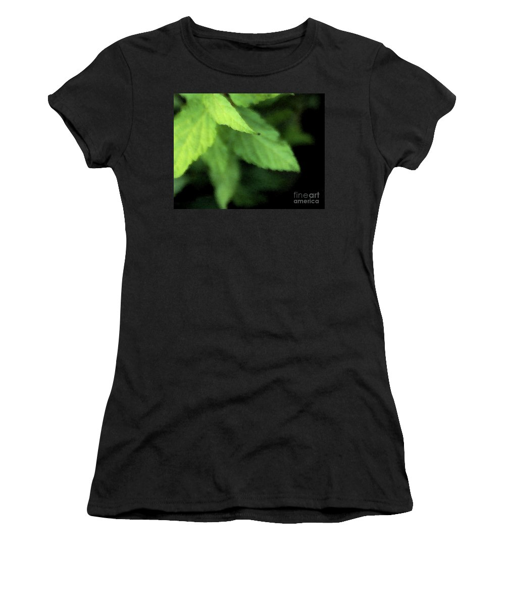 Leaves Women's T-Shirt featuring the photograph Layered Leaves by Linda Shafer