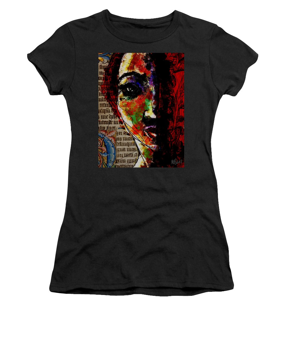 Portrait Women's T-Shirt featuring the digital art Layers Of Meaning by Michael Kallstrom