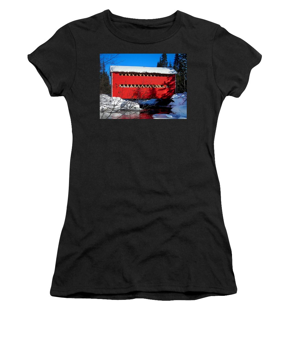 North America Women's T-Shirt (Athletic Fit) featuring the photograph Le Boise Du Pont-rouge ... by Juergen Weiss