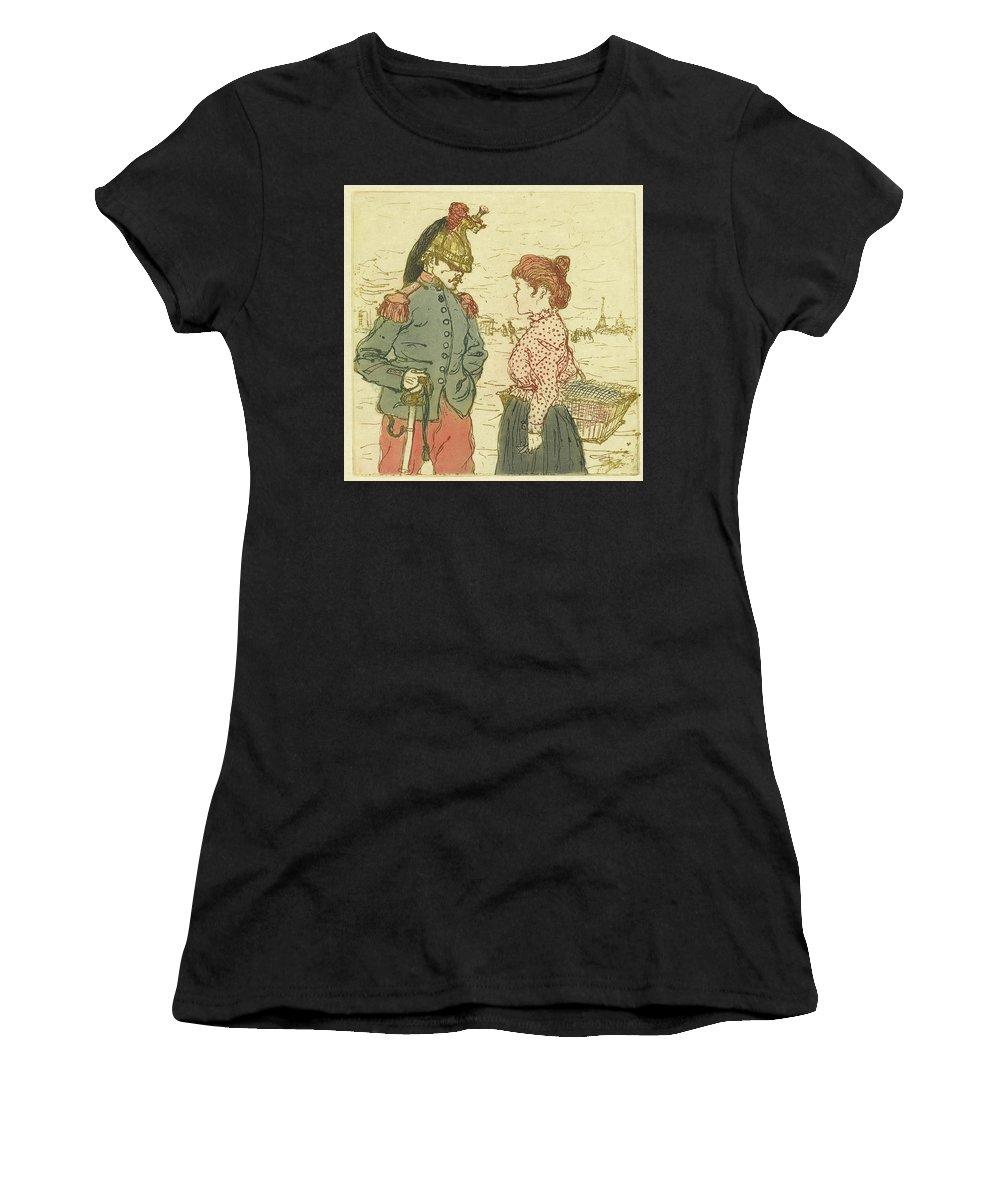 (le Cuirassier) Henri Evenepoel (1872 - 1899) Women's T-Shirt (Athletic Fit) featuring the painting Le Cuirassier by Henri Evenepoel