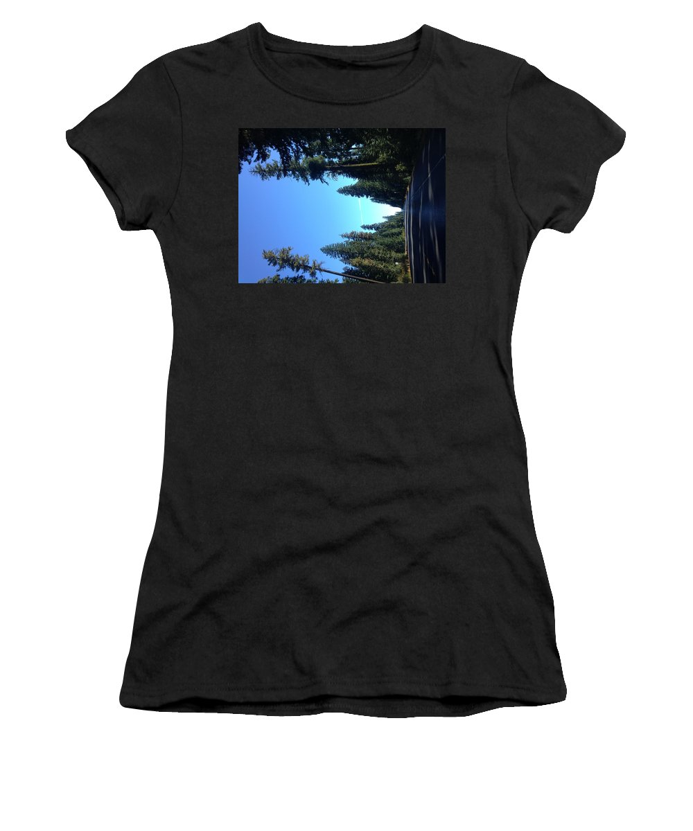 Women's T-Shirt featuring the photograph Leading Lines #3 by Hannah Brood