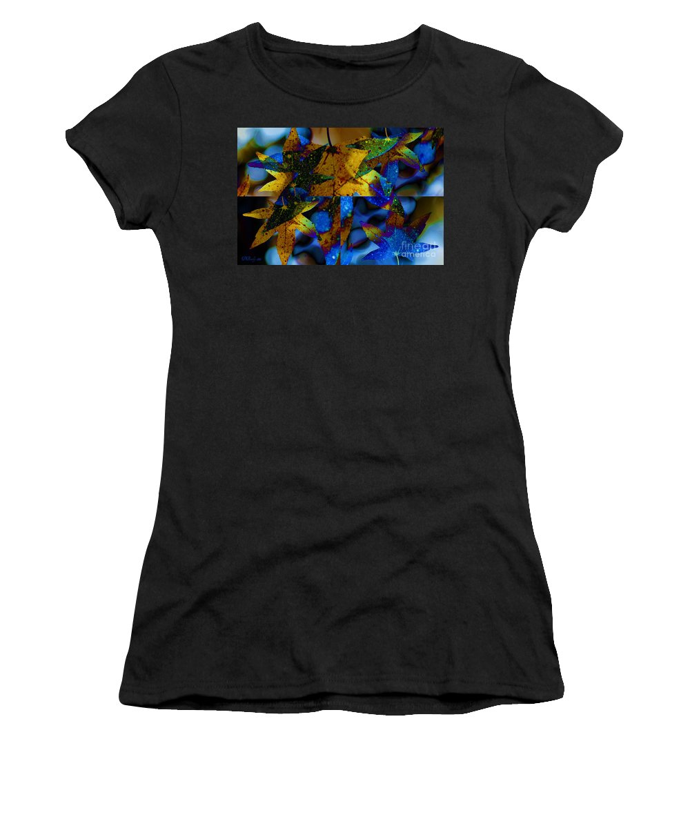 Leaf Women's T-Shirt (Athletic Fit) featuring the photograph Leaf Peeping by Donna Bentley