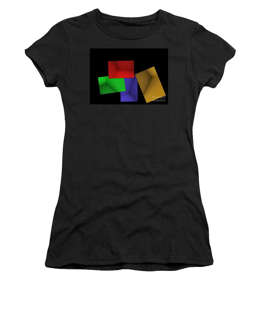 Abstract Art Women's T-Shirt (Athletic Fit) featuring the photograph Lean On Me by Carol Groenen