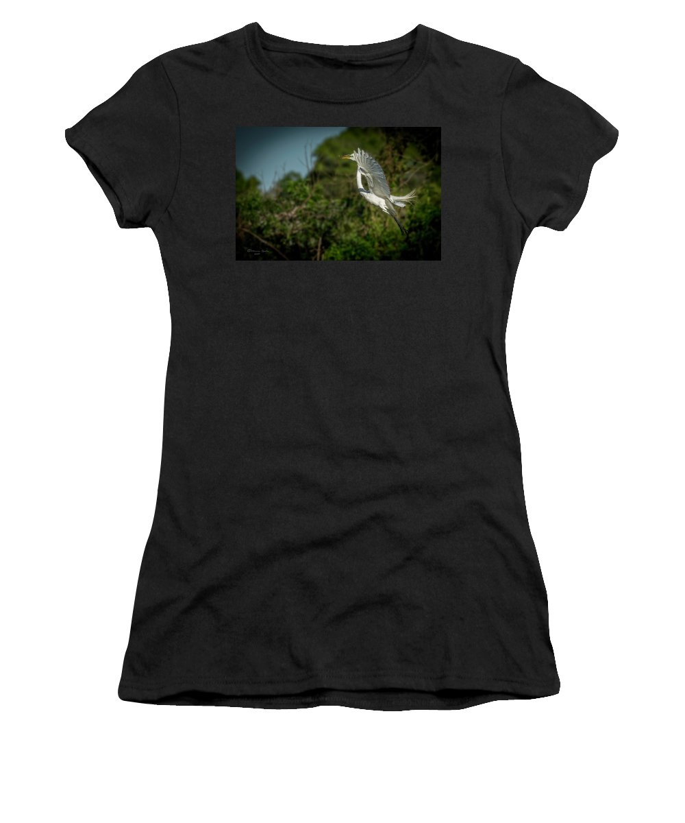 White Women's T-Shirt featuring the photograph Leap Of Faith by Marvin Spates