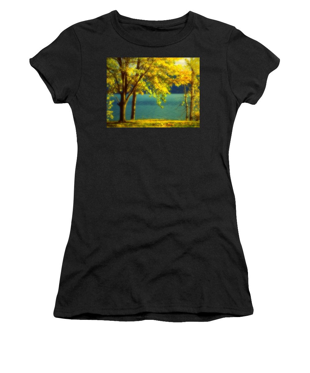 Autumn Women's T-Shirt (Athletic Fit) featuring the photograph Leaves And Light by Tara Turner