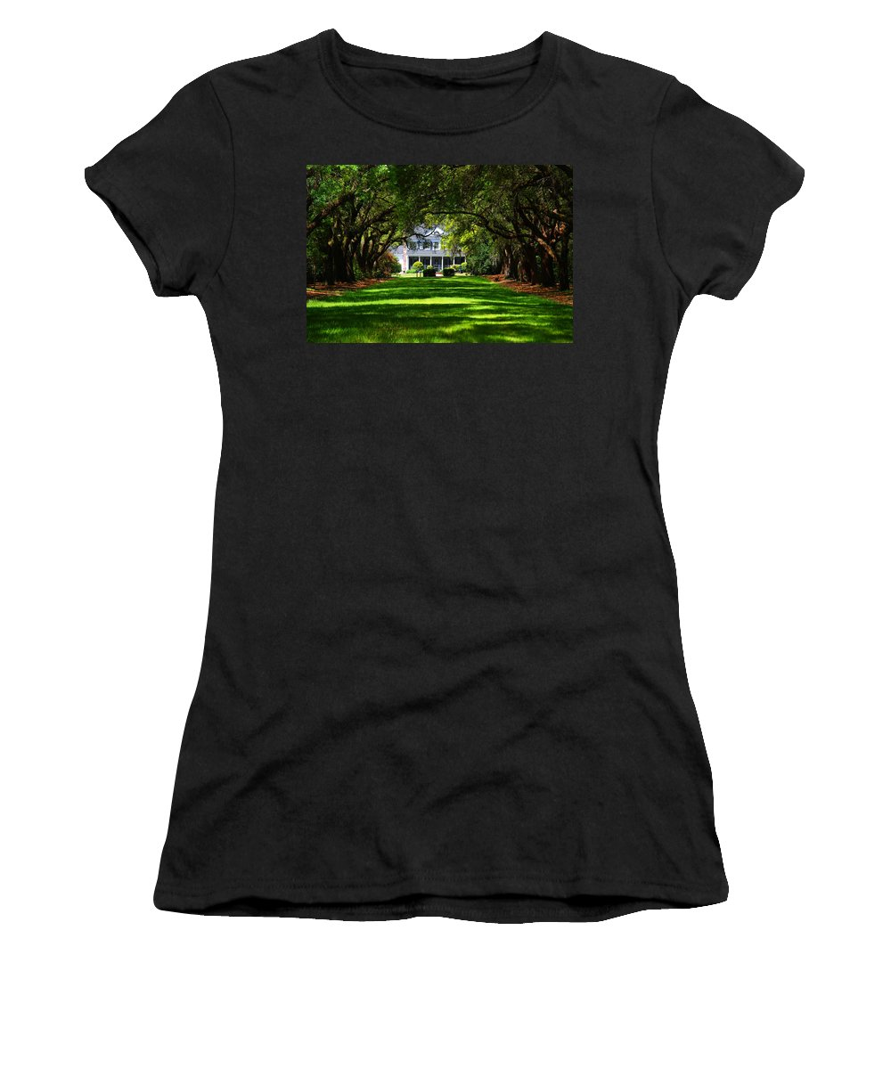 Photography Women's T-Shirt (Athletic Fit) featuring the photograph Legare Waring House Charleston Sc by Susanne Van Hulst